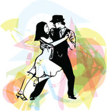 Abstract illustration of Latino Dancing couple. Abstract drawing of Latino Dancing couple vector illustration stock illustration