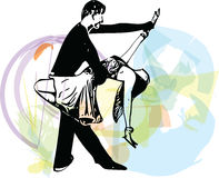Abstract illustration of Latino Dancing couple Stock Image