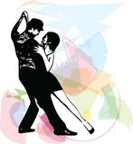 Abstract illustration of Latino Dancing couple Stock Photos