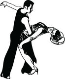 Abstract illustration of Latino Dancing couple. Abstract drawing of Latino Dancing couple vector illustration Stock Photo