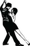 Abstract illustration of Latino Dancing couple. Abstract drawing of Latino Dancing couple vector illustration Royalty Free Stock Photography