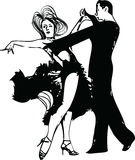 Abstract illustration of Latino Dancing couple. Abstract drawing of Latino Dancing couple vector illustration Royalty Free Stock Images