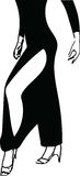 Abstract illustration of Latino Dancing woman legs. Abstract drawing of Latino Dancing woman legs vector illustration Royalty Free Stock Photography