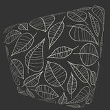 Abstract illustration with leafs. Stock Photos