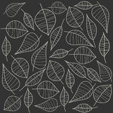Abstract illustration with leafs. Royalty Free Stock Photos
