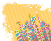 Abstract illustration with lines. Royalty Free Stock Photos