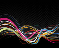 Abstract illustration with lines. Royalty Free Stock Images