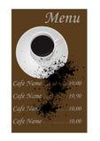 Abstract illustration of a menu Royalty Free Stock Photo