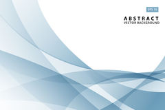 Abstract  illustration of modern light blue wave element a Stock Image