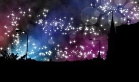 Magic night in town Stock Photo