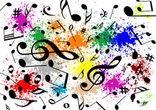 Abstract illustration of a musical background. With colors royalty free illustration
