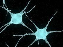 Abstract Illustration of Neurons In The Head Brain Stock Photos