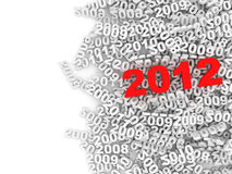 Abstract Illustration of New Year 2012 Stock Photography