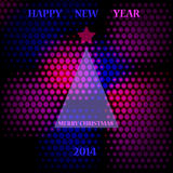 Abstract illustration. Abstract new year 2014 illustration. Vector Royalty Free Stock Image