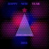 Abstract illustration. Abstract new year 2014 illustration. Vector stock illustration