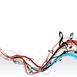 Abstract illustration with notes. Royalty Free Stock Photo