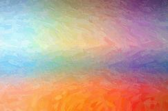 Abstract illustration of orange and blue Oil paint with large brush strokes background. Abstract illustration of orange and blue Oil paint with large brush royalty free illustration