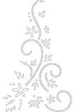 Abstract illustration outline stencil design Stock Images