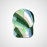 Abstract illustration on peaked cap Stock Photos