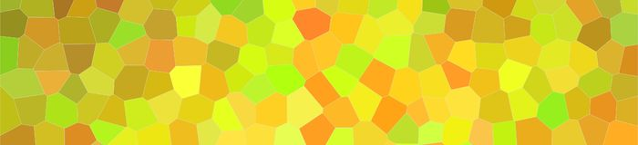 Abstract illustration of peridot bright Little hexagon banner background, digitally generated. Abstract illustration of peridot bright Little hexagon banner stock illustration