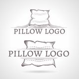Abstract illustration of pillow icon with text Stock Photo