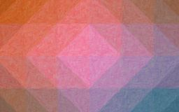 Abstract illustration of pink orange and blue Realistic Impasto background, digitally generated. stock photo