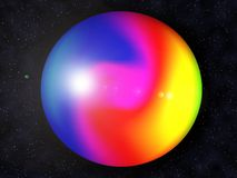 Rainbow planet Royalty Free Stock Photos