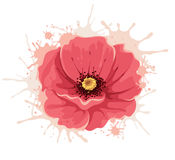 Abstract illustration -- poppy flower Stock Photos