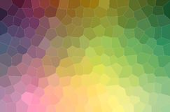 Abstract illustration of purple, green and yellow pastel middle size hexagon background. Abstract illustration of purple, green and yellow pastel middle size vector illustration