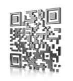 Abstract illustration of QR code Stock Photo