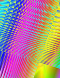 Abstract Illustration - Rainbow Fractals Stock Images