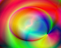 Abstract Illustration Rainbow Lightning Stock Photos