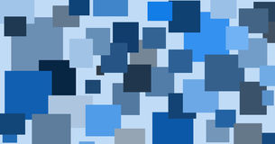 Abstract illustration of randomly located rectangular shapes in different shades of blue Royalty Free Stock Photos