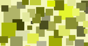 Abstract illustration of randomly located rectangular shapes in different shades of green Stock Photo