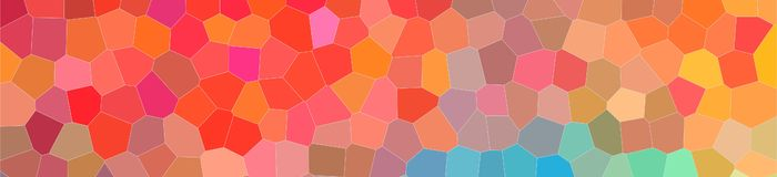 Abstract illustration of red blue and yellow bright Little hexagon banner background, digitally generated. Abstract illustration of red blue and yellow bright vector illustration