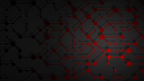 Abstract background of connecting lines and dots. Abstract illustration of red connecting lines and dots with shadows on black background royalty free illustration