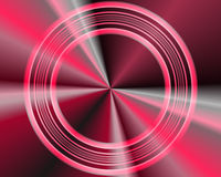 Abstract Illustration: Red Metallic Circles Royalty Free Stock Image