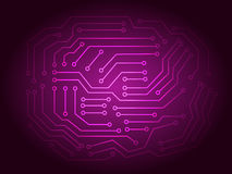 Red Printed Circuit Board Background Stock Image