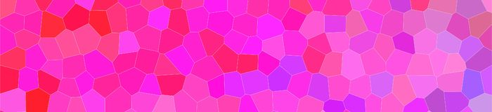 Abstract illustration of red purple and blue bright Little hexagon banner background, digitally generated. Abstract illustration of red purple and blue bright royalty free illustration