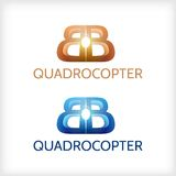 Abstract illustration of sign for Quadrocopter Royalty Free Stock Photos