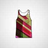 Abstract illustration on singlet Royalty Free Stock Image