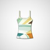 Abstract illustration on singlet Stock Image
