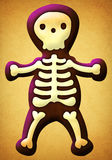 Abstract illustration of a skeleton. On a texture background Stock Photography