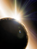 Abstract illustration of Solar eclipse Stock Photos