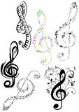 Abstract illustration of some G clef Royalty Free Stock Image