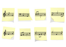 Abstract illustration of some yellow notes with st Stock Image