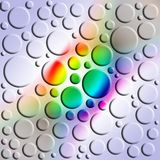 Rainbow pattern. Abstract illustration spectral colours with rounds Stock Photography
