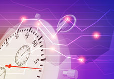 Abstract illustration of  stopwatch close-up with Stock Image