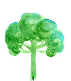 Abstract illustration of stylized green tree Stock Image