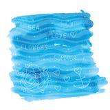 Abstract illustration of summer sea Royalty Free Stock Photo